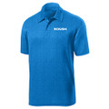 Roush Mens Heather Blue Breathable Polo (4077)