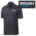 Roush Clean Tech Mens Heather Gray Breathable Polo (4089)