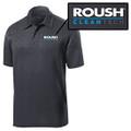 Roush Clean Tech Mens Heather Gray Breathable Polo (4089)