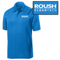 Roush Clean Tech Mens Heather Blue Breathable Polo (4090)