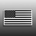 ROUSH Monotone American Flag Sticker - White Background (4104)