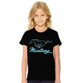 Ford Mustang Youth Blk/Teal Tee (4126)