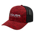Roush Performance Heather Red/Black Mesh Back Flex Fit Hat (4136)