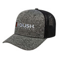 Roush Performance Heather Gray/Black Mesh Back Flex Fit Hat (4137)