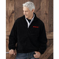 ROUSH Mens Black Full Zip Poly Fleece (4168)