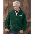 ROUSH Mens Forest Green Full Zip Poly Fleece (4170)