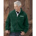 ROUSH Mens Forest Green Full Zip Poly Fleece (4170)
