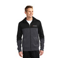 Roush Mens Square R Heather Gray/Black Colorblock Full Zip Hoodie (4145)