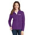Roush Ladies Purple Full Zip Microfleece (4175)