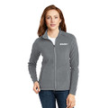 Roush Ladies Gray Full Zip Microfleece (4180)