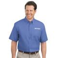 Roush Mens Blue Short Sleeve Dress Shirt (1465)