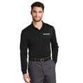 Roush Black Snag Resistant & Moisture Wicking Long Sleeve Polo (4199)