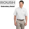 Roush Mens White Short Sleeve Dress Shirt (1468)