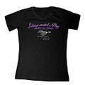 Ford Black Always Wanted A Pony Ladies V-Neck Tee (4214)