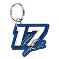 Chris Buescher #17 Mirrored Keychain (4241)