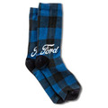 Ford Blue Plaid Socks (4313)