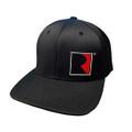 Roush Square R Black Flex-Fit Hat (4315)