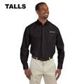 Roush Mens Tall Black Long Sleeve Dress Shirt #2 (4348)