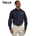 Roush Mens Tall Navy Long Sleeve Dress Shirt #2 (4349)