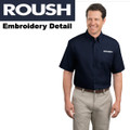 Roush Mens Navy Short Sleeve Dress Shirt (1803)
