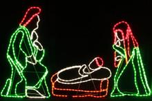 220CM Wide LED Birth of Jesus Scene Nativity Christmas Motif Rope Lights (36V Safe Voltage)