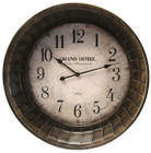 74CM Antique Country Bronze Cream Grand Hotel Wall Clock