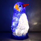 Battery Operated 23CM 3D Acrylic Penguin Baby White LED Christmas Lights