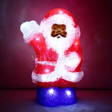 Battery Operated 23CM 3D Acrylic Santa White LED Christmas Lights