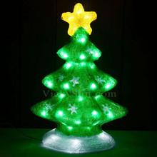 Vickysun Com 51cm 3d Acrylic Christmas Green Tree With 60 White