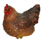 25CM Brown Hen Polyresin Garden and Home Decor