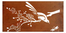 150CM Spring Sparrow Laser Cut Wall Art Steel Garden and Home Wall Decor