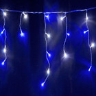 25M 600 LED Blue and White Christmas Icicle Lights with 8 Functions & Memory