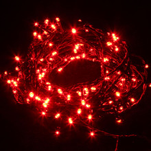 14M 200 LED Red Christmas Wedding Party Fairy Lights with 8 Functions & Memory (Green Cable)