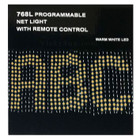 CPU Control Personalized 768 LED Warm White Net Lights 230CM X 70CM