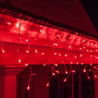 12.5M 292 LED Red Christmas Icicle Lights with 8 Functions & Memory