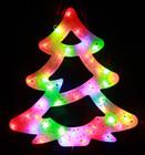 40CM High 50 LED Changing Colours Christmas Tree Shape Window Lights