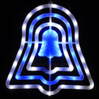 42CM High 50 LED Blue and White Jingle Bell Christmas Window Lights with 8 Functions