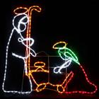 110CM High Nativity Manger Scene Christmas Motif Rope Lights