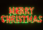 160CM LED Merry Christmas Sign Motif LED Green Rope Lights with Red PVC Grass Lights (36V Safe Voltage)
