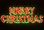 160CM LED Merry Christmas Sign Motif LED Green Rope Lights with Red PVC Grass Lights (36V Safe Voltage)