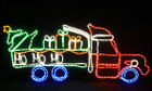 Christmas Santa Truck with Gift Box Tree Motif Rope Lights