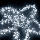 55M 600 LED IP44 White Christmas Wedding Party Fairy Lights with 8 Functions (Clear Cable)