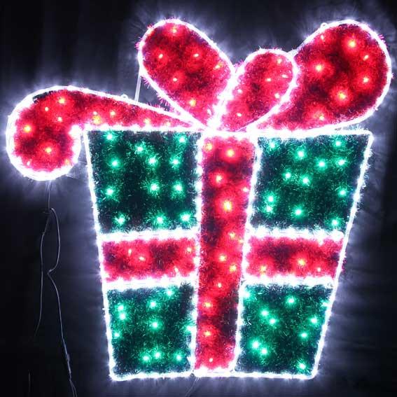 VickySun.com - Animated 107CM 100 LED Christmas Gift Box Motif LED ...