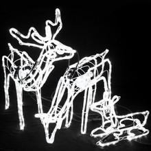 Set of 3 Animated LED 3D Deer Family Christmas Motif Rope Lights