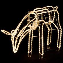 Animated Large LED Warm White 3D Deer Doe Eating Christmas Motif Rope Lights (24V Safe Voltage)