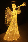 Warm White Acrylic Angel with Trumpet Christmas Wedding Lights