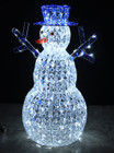 Acrylic Snowman with Blue Hat 180 LED White Christmas Lights