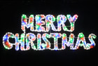 Animated 160CM LED Multi Colours Merry Christmas Sign Motif Rope Lights with PVC Grass (36V Safe Voltage)