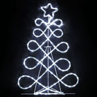 81CM LED White Christmas Tree Motif Rope Lights with Blinking Lights