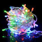 55M 600 LED IP44 Multi Colours Christmas Wedding Party Fairy Lights with 8 Functions (Clear Cable)
